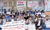Thousand patients suffer as young doctors go on strike again in Sindh