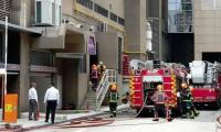Singapore hotel evacuated after blasts, fire