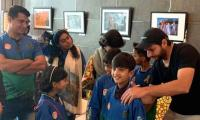 Young cancer patients meet team Multan Sultans during PSL 4