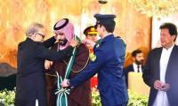 Saudi Crown Prince conferred with Nishan-e-Pakistan, thanks President Alvi