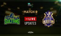 PSL Live Cricket Score Match 8: Multan Sultans vs Quetta Gladiators