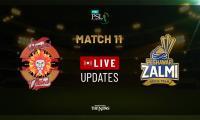 PSL Live Cricket Score Match 11: Islamabad United vs Peshawar Zalmi