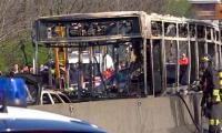 Video: Italy police rescue 51 children as driver torches school bus
