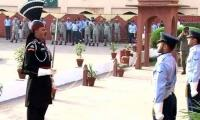 Change of guards ceremony held at mausoleum of Allama Iqbal