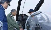 Mahathir Mohamad receives briefing on JF-17 before leaving Islamabad