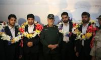 Four Iranian soldiers rescued by Pakistan return home