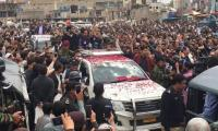 Quetta Gladiators get a festive welcome arriving to the winning city with PSL 4 trophy