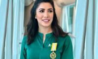 Mehwish Hayat displays Tamgha-e-Imtiaz with pride