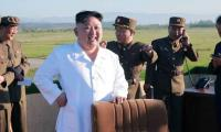 N.Korea´s Kim oversees new 'guided weapon' test