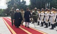 PM Imran accorded red carpet welcome at Iran's Presidential Palace