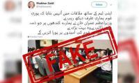Fact check: Shabbar Zaidi has no social media account