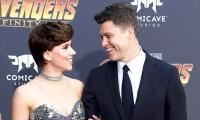 Scarlett Johansson exchanges rings with beau Colin Jost