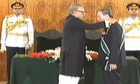 Chinese Vice President Wang Qishan bestowed with Nishan-e-Pakistan by President Arif Alvi