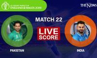 Pakistan vs India Live score updates: ICC World Cup 2019; Rain halts play