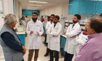 Dr Zafar Mirza visits Getz Pharma, Pakistan's only WHO-accredited pharmaceutical company