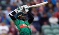 Shakib stars as Bangladesh stun WIndies with 2nd highest World Cup chase