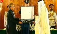 President Alvi confers Nishan-e-Pakistan on Emir of Qatar