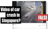 Fact-check: Is this a viral video of a car crash in Singapore?