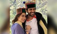 Sara Ali Khan, Kartik Aaryan mix in with Shimla locals, don Himachali caps