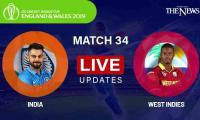 India vs West Indies Live Score: ICC World Cup 2019