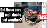 Fact-check: Is this a photo of cars that melted due to hot weather?