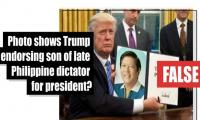 Fact-check: Is this a photo of Trump endorsing son of late Philippine dictator for president?