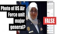 Is this a photo of first Muslim female major general in US Air Force?