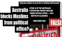 Fact-check: Has Australia blocked Muslims from acquiring political office?