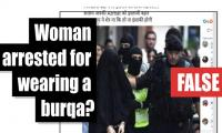 Fact-check: Is this a photo of woman arrested for wearing burqa in Australia?