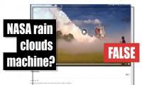 Fact-check: NASA rain clouds machine?