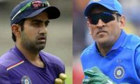 Gautam Gambhir sees no place of Dhoni in team India