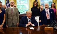 Trump pits Apollo 11 astronauts against NASA chief