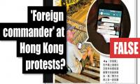 Fact-check: Did 'foreign commander' also join Hong Kong protests?