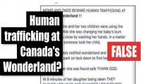 Fact-check: Human trafficking at Canada's Wonderland?