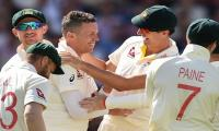 England reduced to 201-6 at tea in second Ashes Test