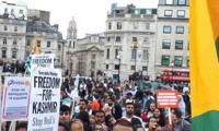 Four arrested after protests outside Indian Embassy in London