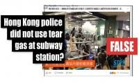 Fact-check: Hong Kong police firing tear gas at Kwai Fong station in August 2019?