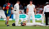 Smith out of second Ashes Test final day with concussion