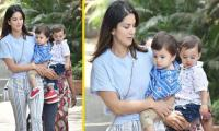 Sunny Leon can't stop beaming as son Asher pick his nose