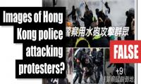 Fact-check: Images of Honk Kong police attacking protesters?