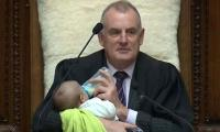 New Zealand speaker babysits lawmaker's newborn during Parliamentary debate