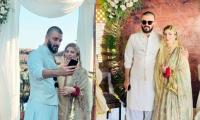 Hamza Ali Abbasi, Naimal Khawar tie the knot in an enchanting ceremony