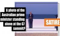 Fact-check: A photo of Australian prime minister standing alone at the G7 summit?