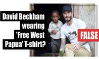 Fact-check: David Beckham wearing 'Free West Papua' T-shirt?