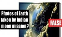 Fact-check: Photos of Earth taken by Indian moon mission?