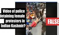 Fact-check: Video of police detaining female protesters in Indian-held Kashmir?