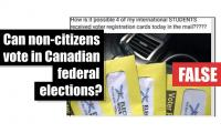 Fact-check: Can non-citizens vote in Canadian federal elections?