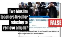 Fact-check: Two Muslim teachers fired for refusing to remove a hijab?