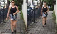 Sara Ali Khan looks effortless-chic in mini shorts and ganji top