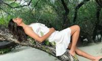 Sushmita Sen sizzles in a white dress at a beach in Maldives